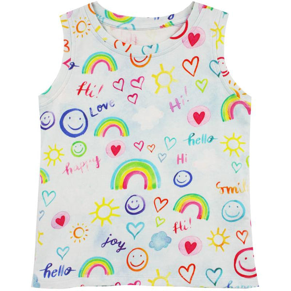 Little Skye Smile Print Tank Top (Preorder) - Little Skye Children's Boutique