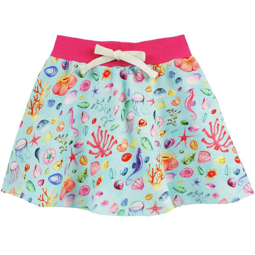 Girls skort with sealife print