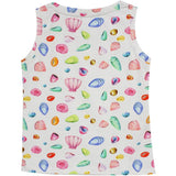 Little Skye Shell Print Tank Top (Preorder) - Little Skye Children's Boutique