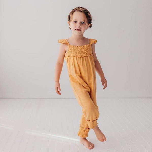 Loved baby yellow knit girls romper