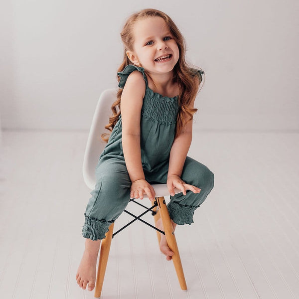 Loved baby green knit girls jumpsuit romper