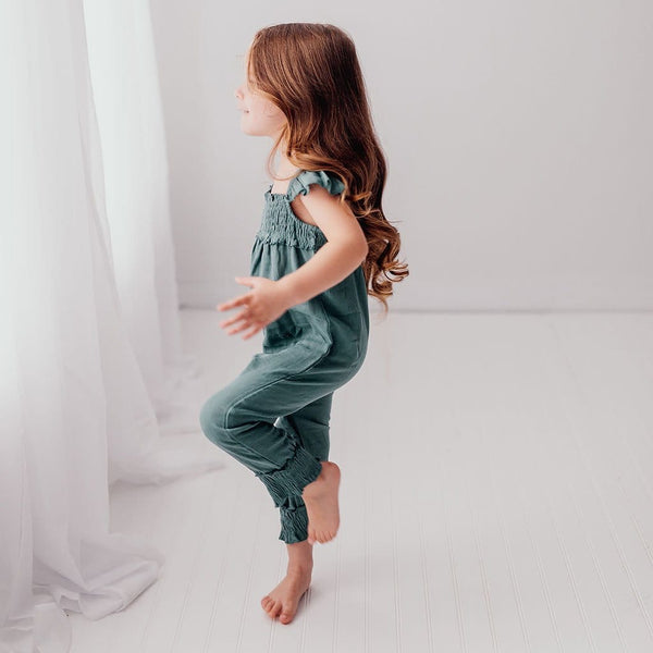 Loved baby green knit girls jumpsuit