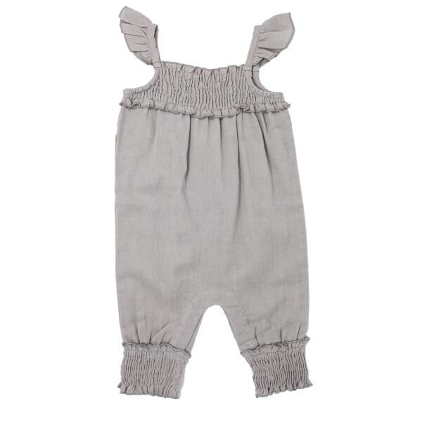 Organic Muslin Cloud Sleeveless Girls Romper by L'ovedbaby