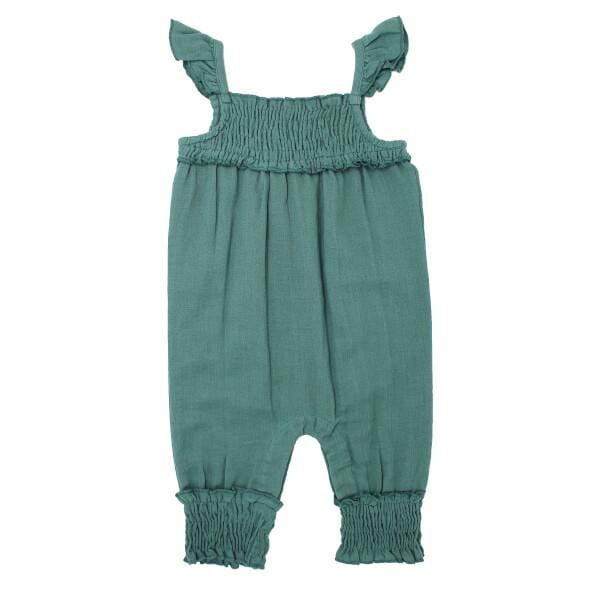 Organic Muslin Oasis Sleeveless Girls Romper by L'ovedbaby