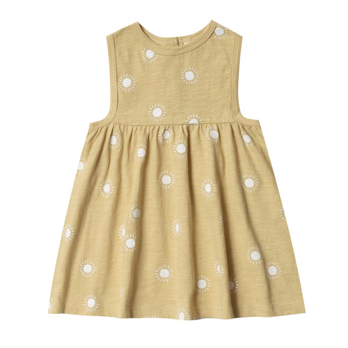 Rylee and cru yellow sunshine apron toddler and girl girls sleeveless dress