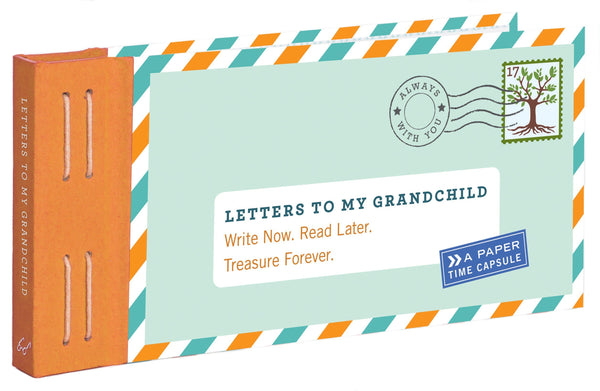 Letters to my Grandchild book cover that looks like a letter