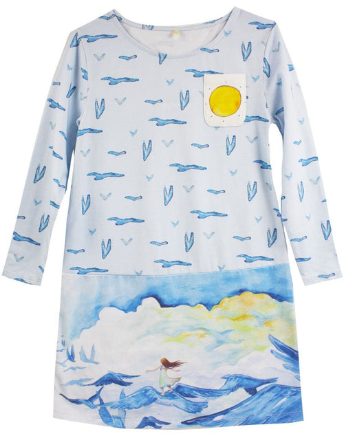 Walk in the Clouds Jersey Shift Dres by Little Skye - Little Skye Children's Boutique
