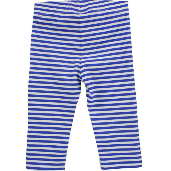 Little Skye Blue Stripe Girls Capri Leggings