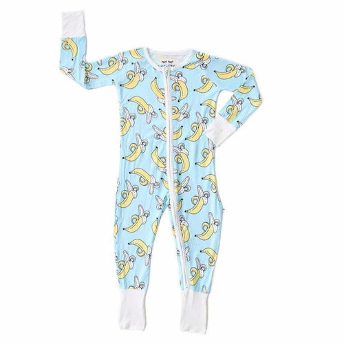 Little sleepies banana print baby boy sleeper