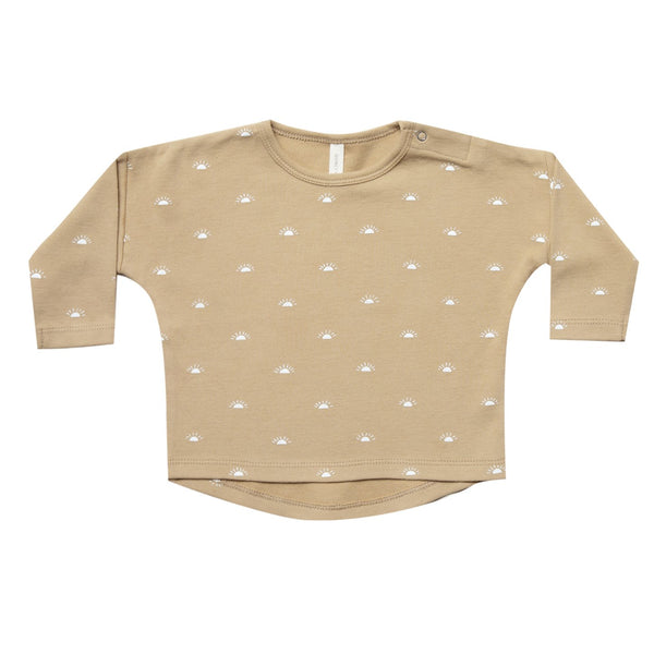 Baby long sleeve honey print organic knit tee