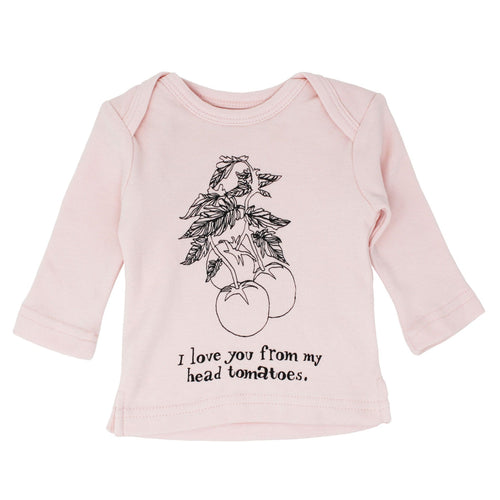 Loved baby blush pink long sleeve baby girl graphic t-shirt
