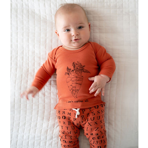 Lovedbaby pumpkin letter print knit baby pants