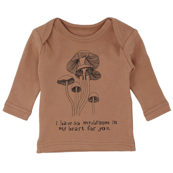 Lovedbaby brown long sleeve baby graphic t-shirt