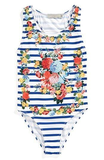 Stella Mccartney kids floral print one piece swimsuit