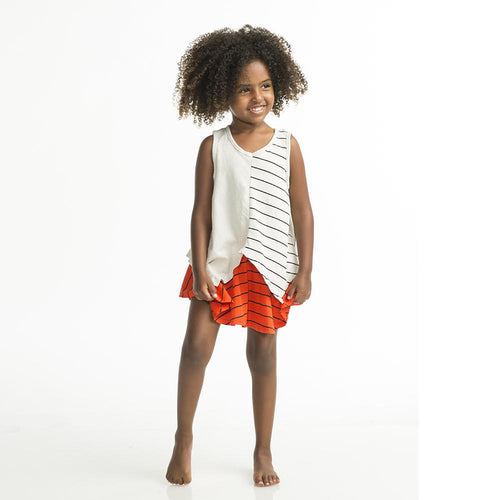 Linen Maru Stripe Tank by Joah Love (Preorder) - Little Skye Children's Boutique