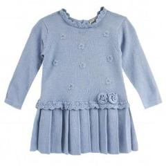 Baby Blue Sweater Dress by Mayoral - Little Skye Children's Boutique