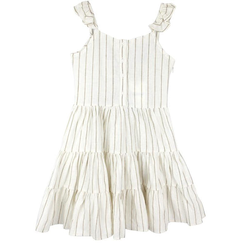 Tween girl stripe knit dress with slim straps
