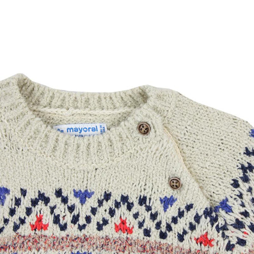 Baby boy fair isle sweater