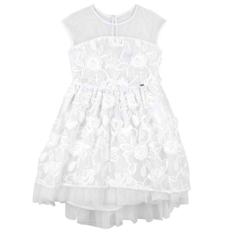 ca612fa1d1 White Lace Tulle Tween Party Dress