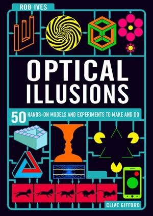 black cover of optical illusions book
