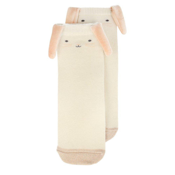 Bunny Rabbit Face Kids Socks by Meri Meri