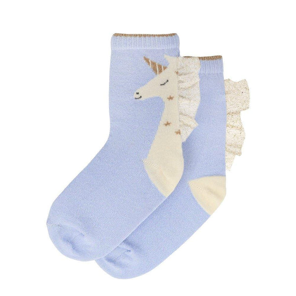 Blue Unicorn Kids Sparkle Socks by Meri Meri