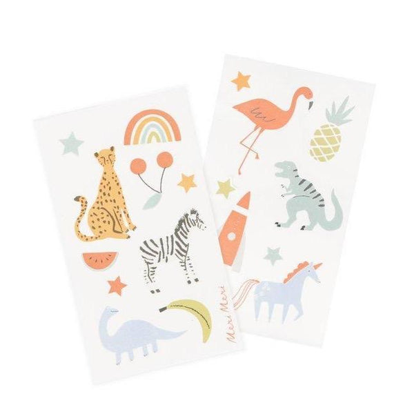 Stars, Animals, and Fruit stickers by Meri Meri