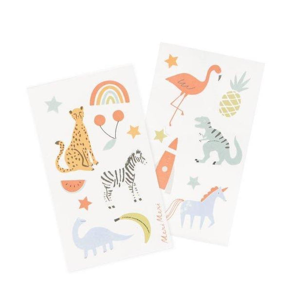 Animal, stars, fruit stickers by Meri Meri include with socks