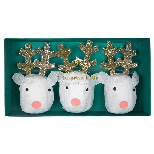 Reindeer poppers with glitter antlers