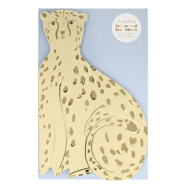 Kids Cheetah Sticker & Sketchbook by Meri Meri