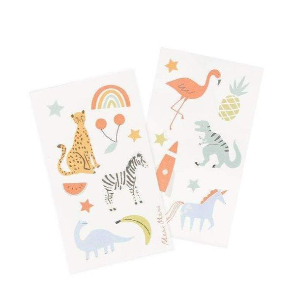 Stickers included with Dino socks from Meri Meri