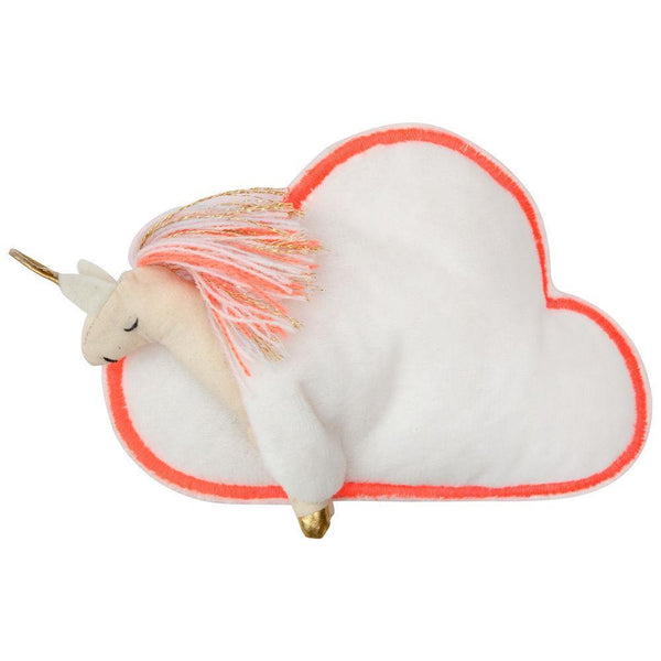 Meri Meri mini unicorn doll inside cloud shaped sleeping bag toy for kids