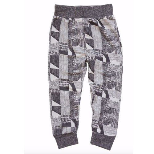 Miki Miette grey sketchbook print boys joggers