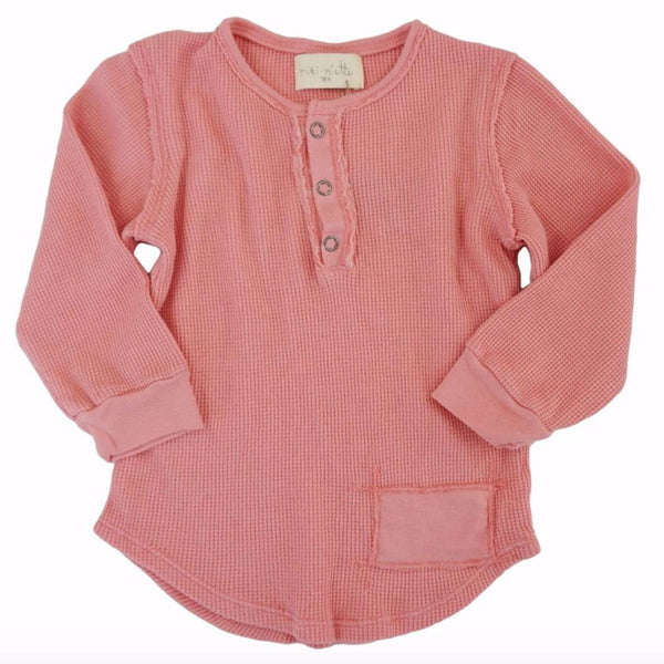 Miki Miette pink long sleeve girls thermal shirt