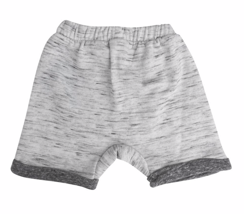 Jersey knit grey shorts for baby boy