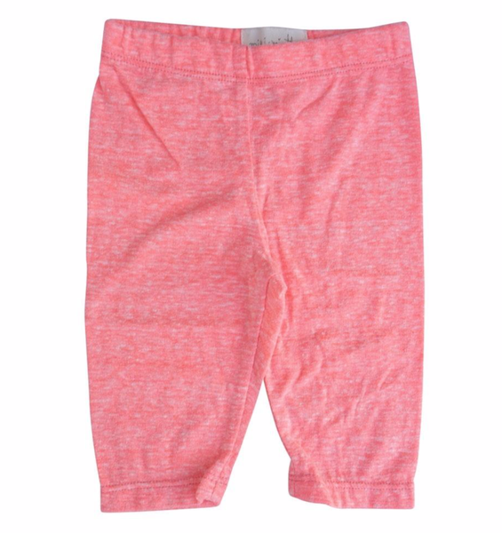 Girls coral pink capri leggings