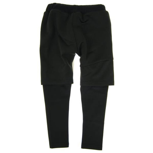 Boys layered black shorts pants