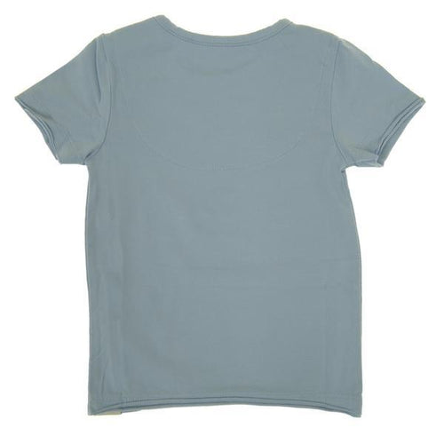 back of plain baby tee in cornflower blue