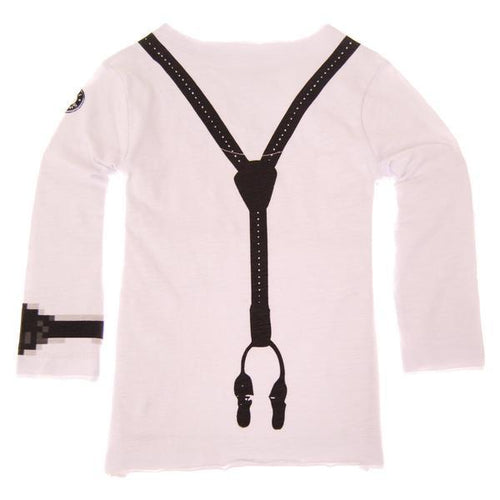 Mini Shatsu boys graphic t shirt with faux suspenders