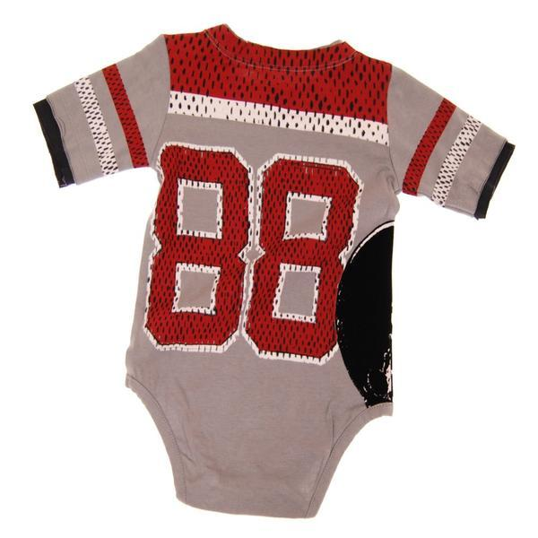 back of football jersey baby onesie