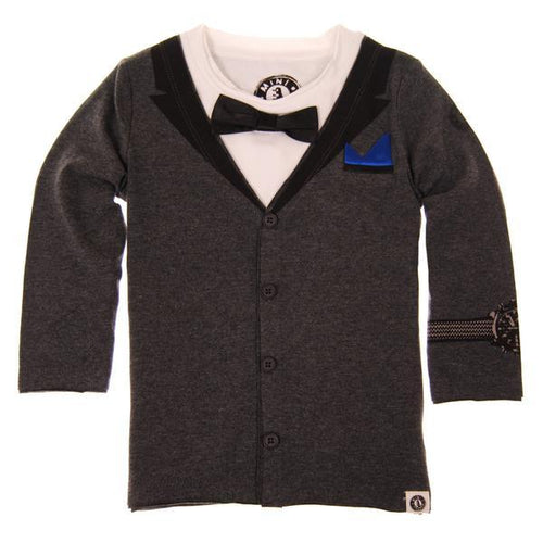 Mini Shatsu boys faux tuxedo boys long sleeve tee