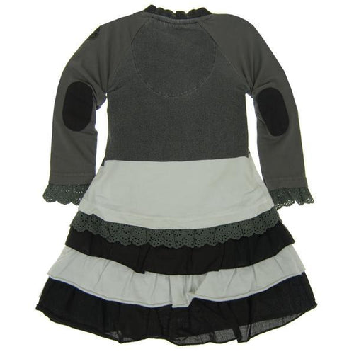 Mini Shatsu girls faux jacket over ruffle dress