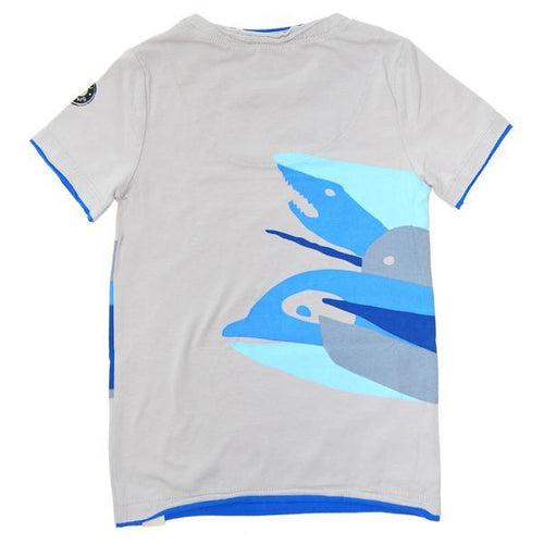 Back of boys short sleeve tee with sharks | Cool Clothes for Boys
