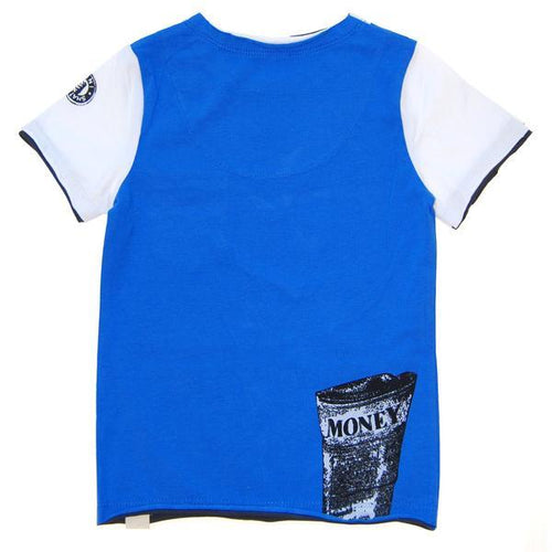 White boys tee with faux blue vest tee shirt | Boys Trendy Clothing
