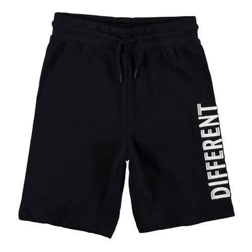 Molo black knit boys shorts with different together graphic