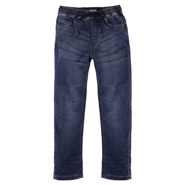 Molo blue denim pull on boys pants