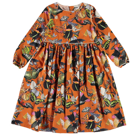Molo Papillon Orange Cassiopeia Girls Dress
