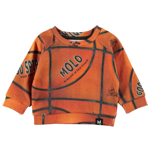 Molo basketball print baby boy sweatshirt
