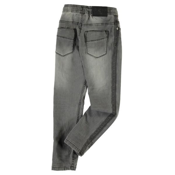 Molo grey denim elastic waist boys pants