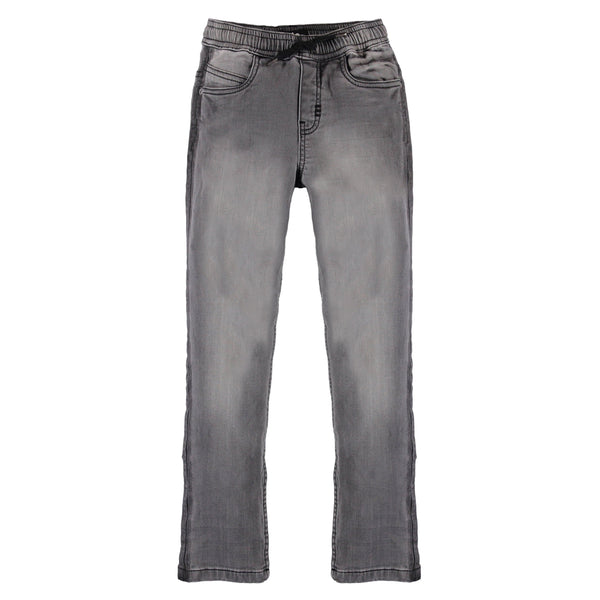 Molo grey denim pull on boys pants